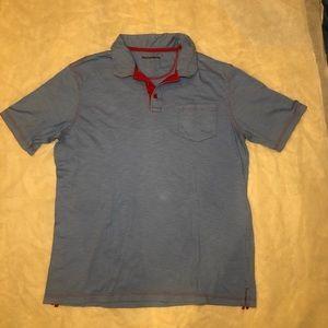 Johnston & Murphy Blue Polo Shirt Size Extra Large